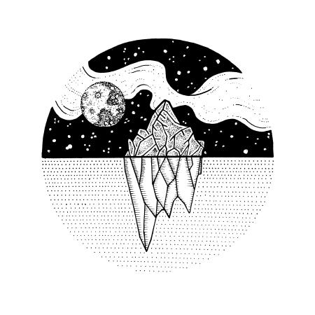 Iceberg-Fullmoon